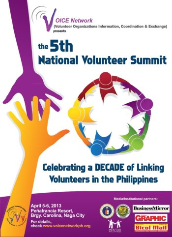 Those who are interested to join the Volunteers National Summit may visit this link.